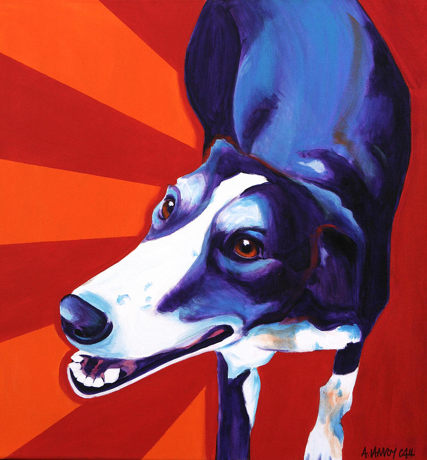 Greyhound - Evie Painting  - Greyhound - Evie Fine Art Print