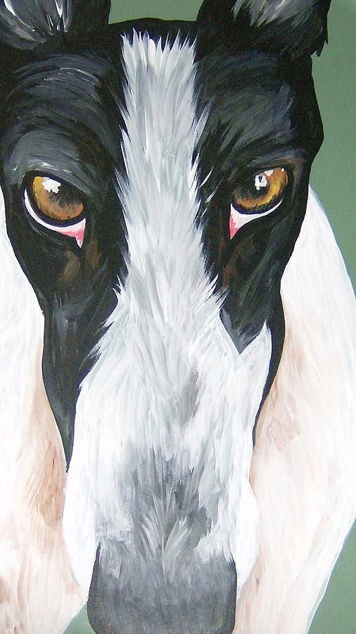 Greyhounds Painting - Greyhound Eyes by Leslie Manley