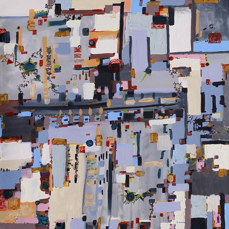 Urban Painting - Gridlock by Regina Valluzzi