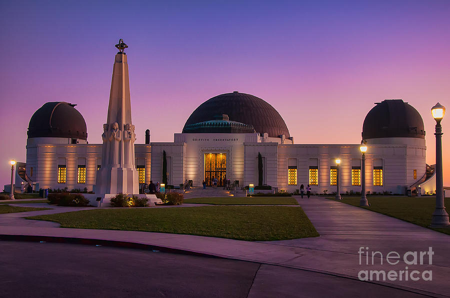 Griffith Photograph - Griffith Observatory by Eddie Yerkish