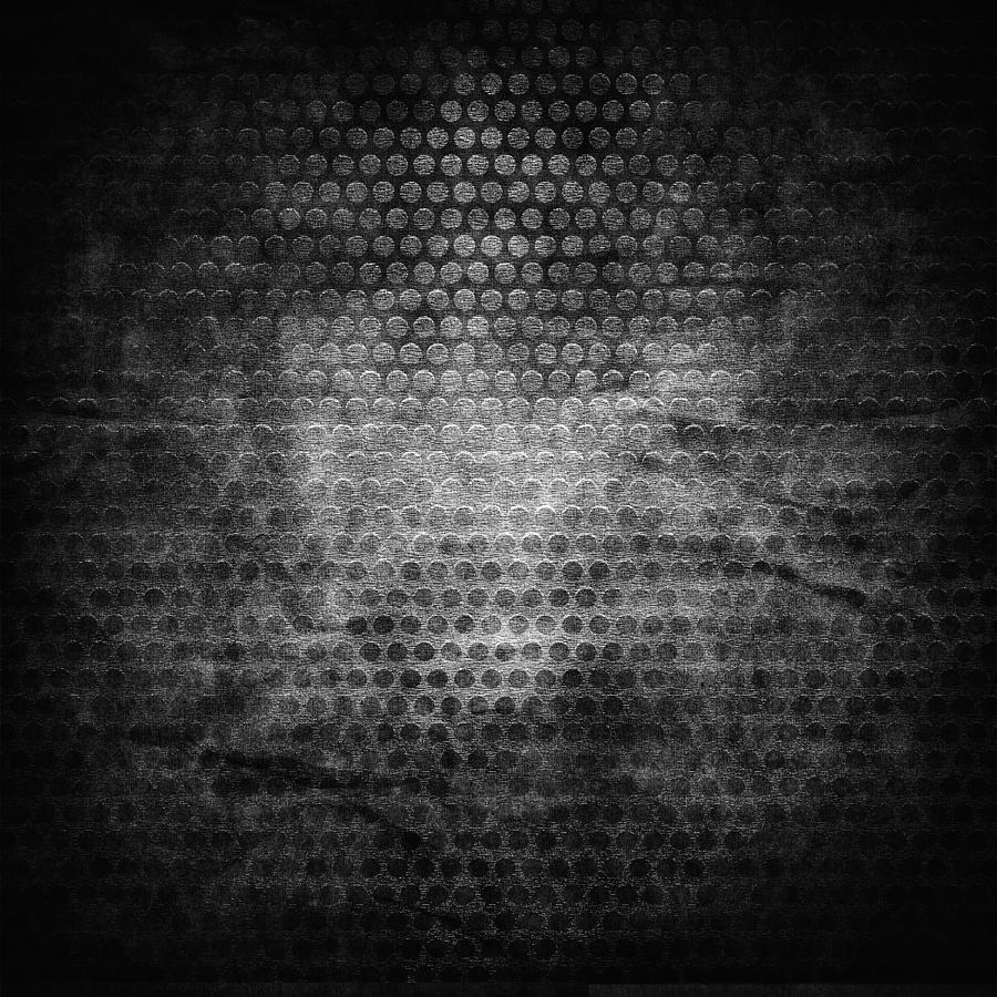 Black Grunge Metal Background Grill Metal Hole On Grunge