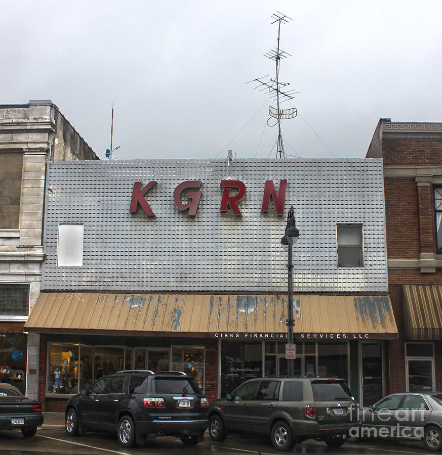 Grinnell Iowa - Kgrn Radio Station Photograph  - Grinnell Iowa - Kgrn Radio Station Fine Art Print