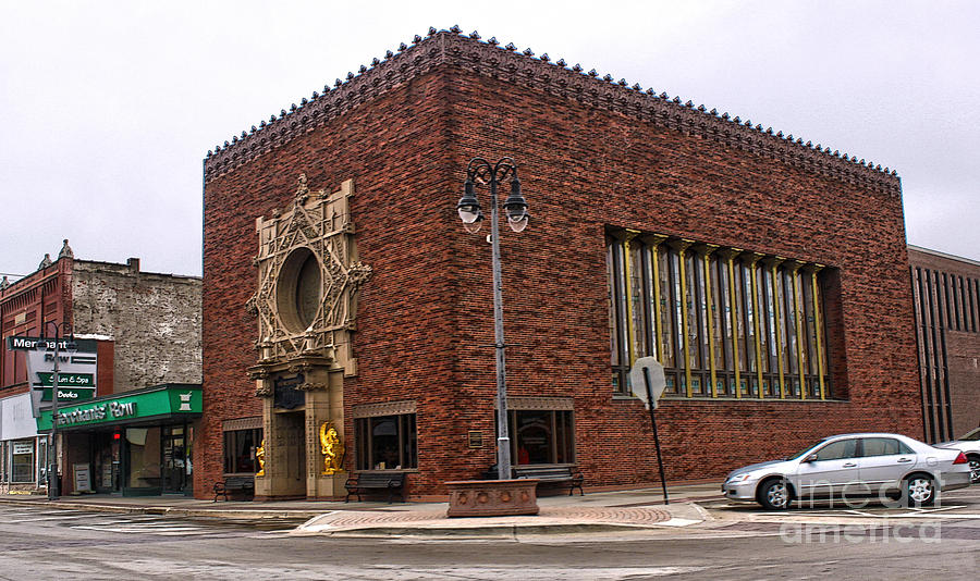 Grinnell Iowa - Louis Sullivan - Jewel Box Bank - 01 Photograph