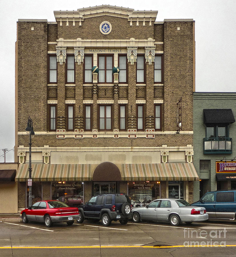 Grinnell Iowa - Masonic Temple -01 Photograph