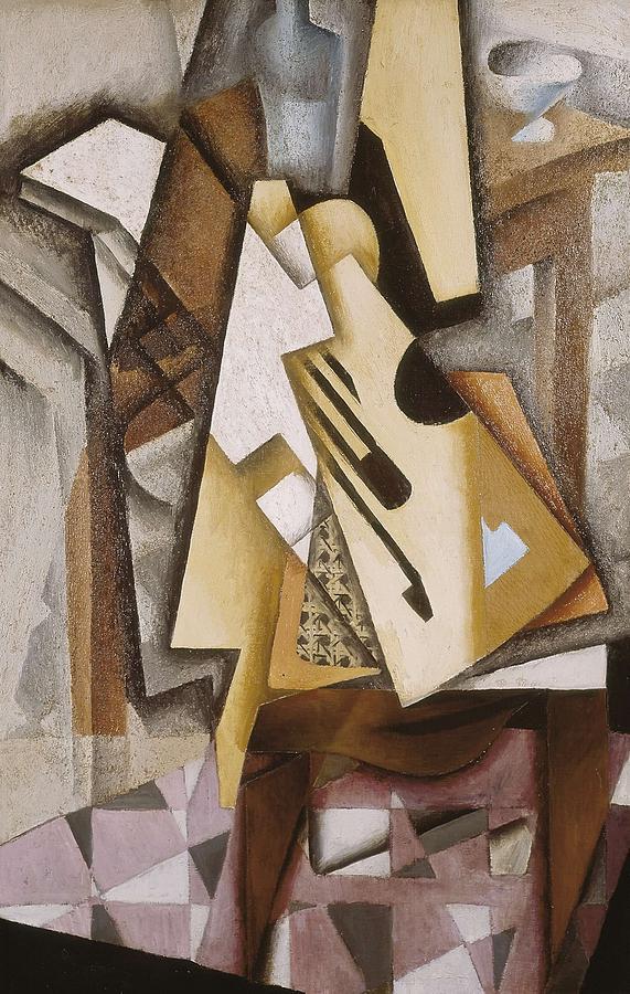 Gris, Juan 1887-1927. Guitar Photograph