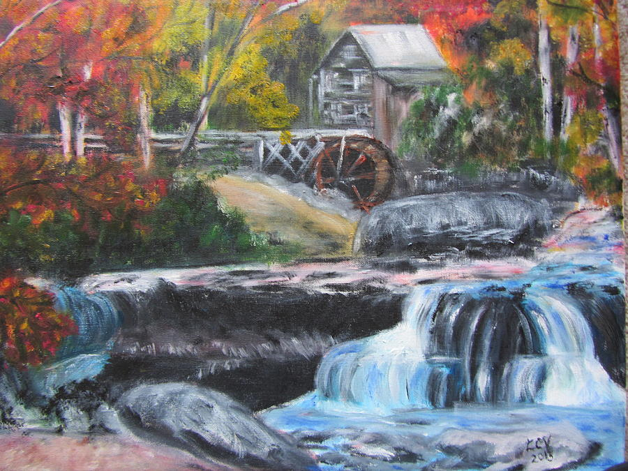 Grist Mill In West Virginia Painting  - Grist Mill In West Virginia Fine Art Print