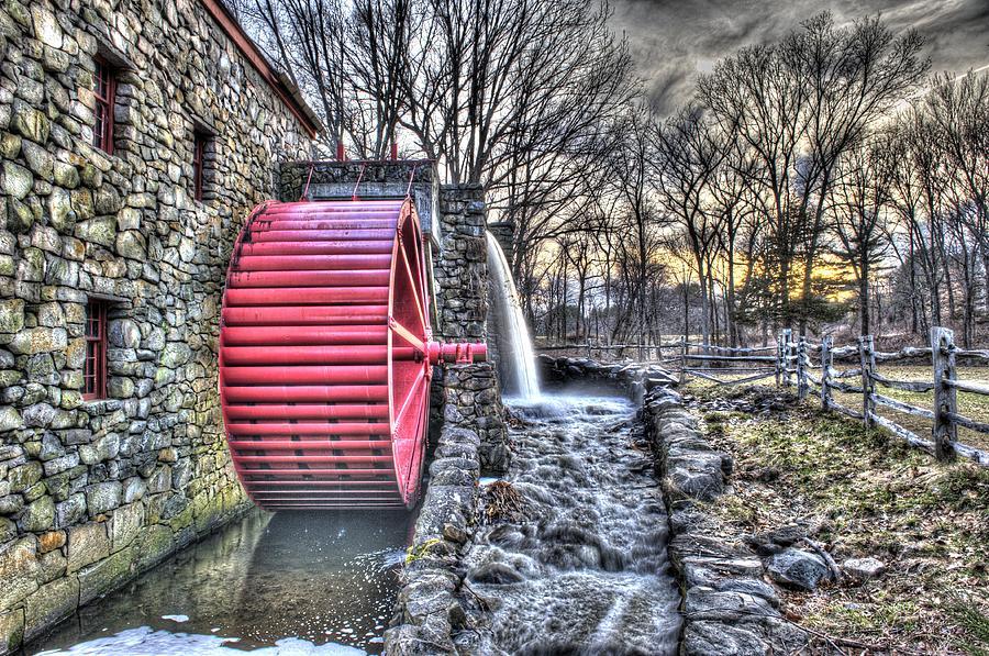 Grist Photograph - Grist Mill Sudbury by Adam Green