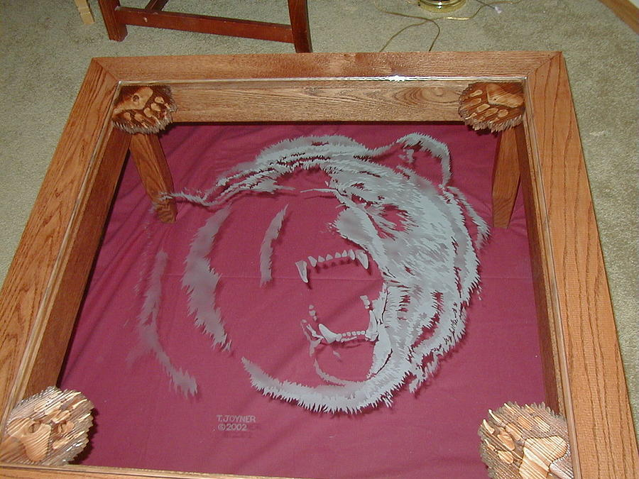 Griz Table Glass Art