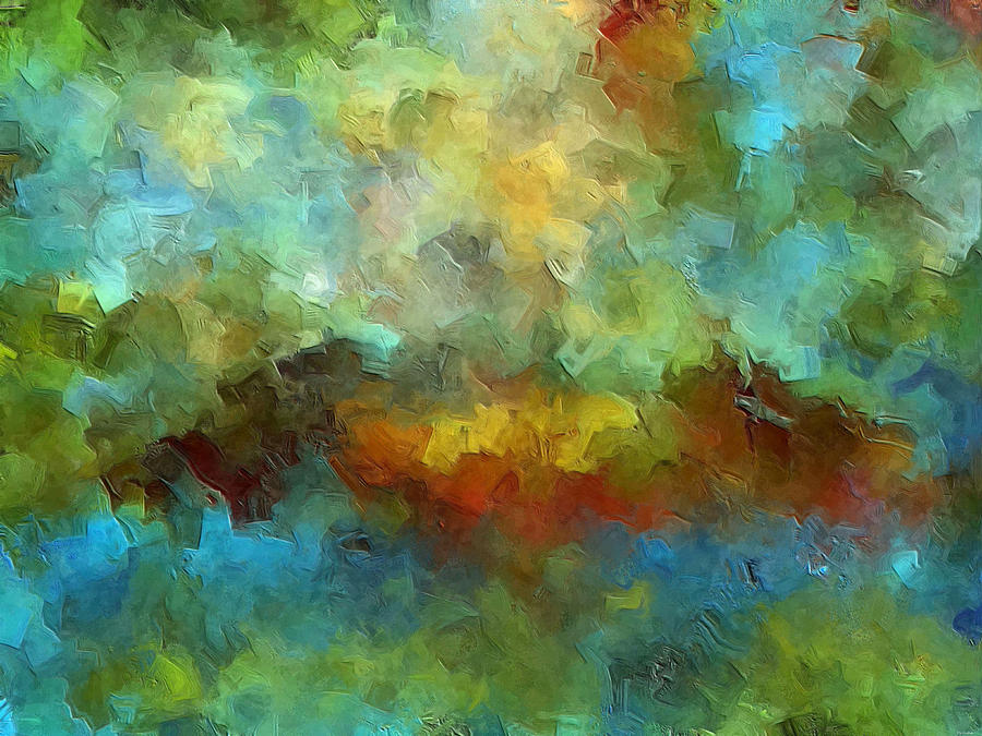 Abstract Art Painting - Grotto by Ely Arsha