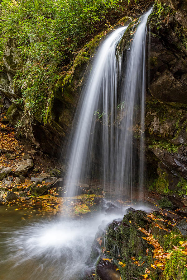 Tennessee Photograph - Grotto Falls Great Smoky Mountains by Pierre Leclerc Photography