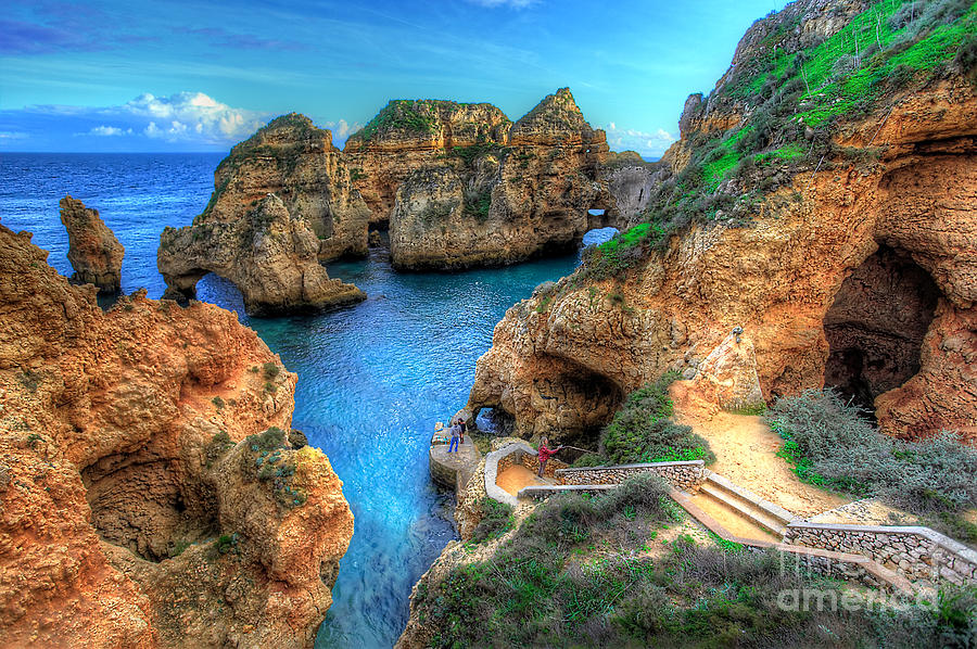 Grottos At Ponta Piedade Photograph