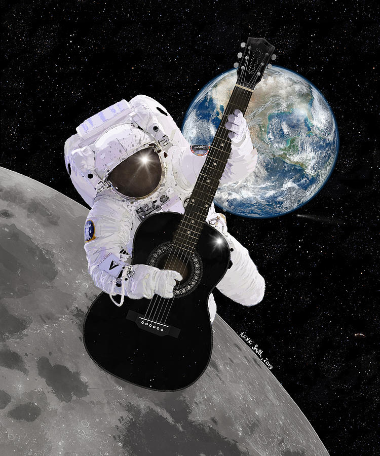 Ground Control To Major Tom Digital Art