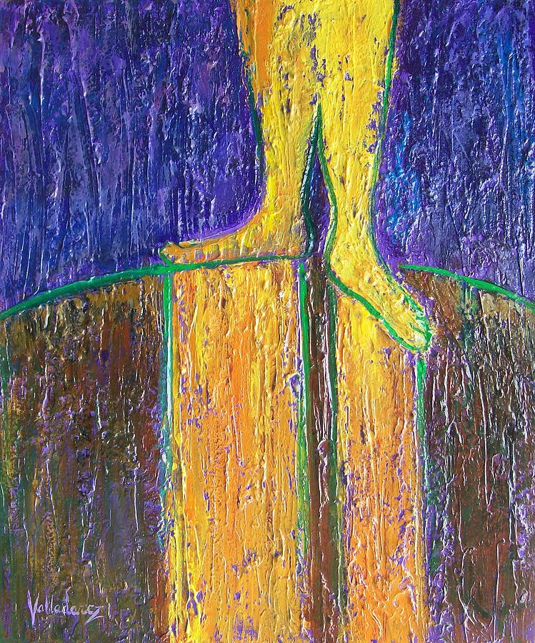 Earth's Energy Entering Feet Painting - Grounded by Maria Valladarez