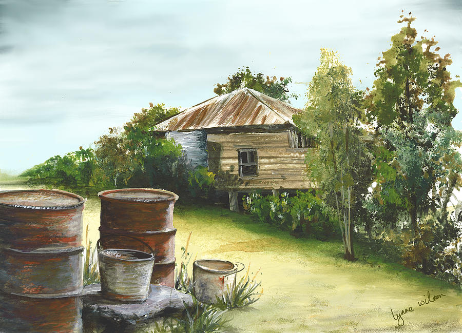 Groundwater Residence Of Days Gone By Digital Art  - Groundwater Residence Of Days Gone By Fine Art Print