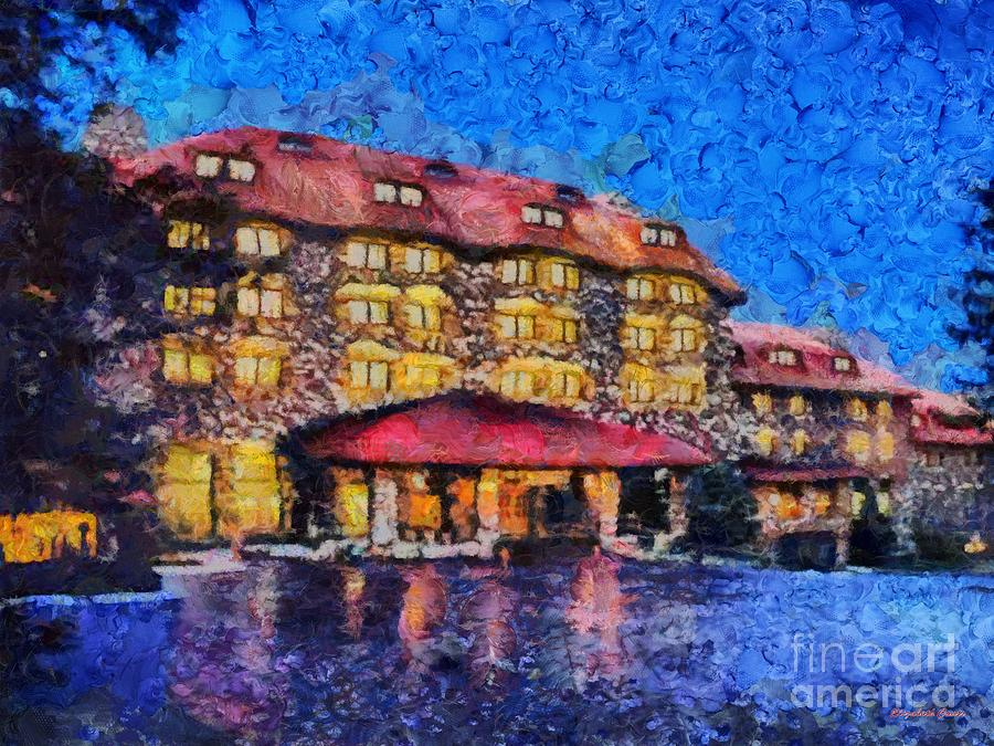 Grove Park Inn Painting  - Grove Park Inn Fine Art Print