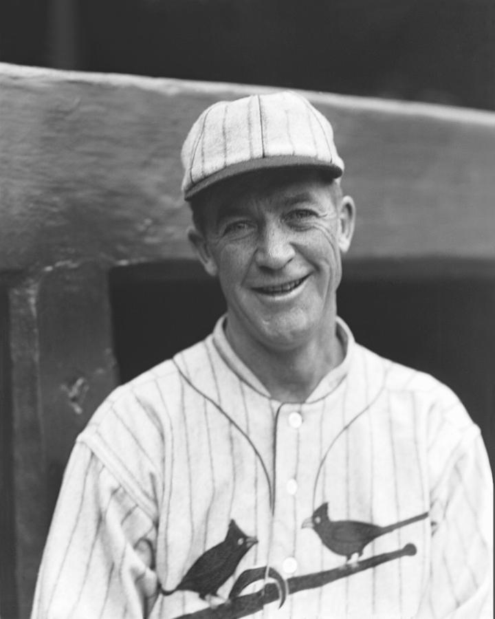 Grover Cleveland Alexander Smiling Outside Dugout Photograph
