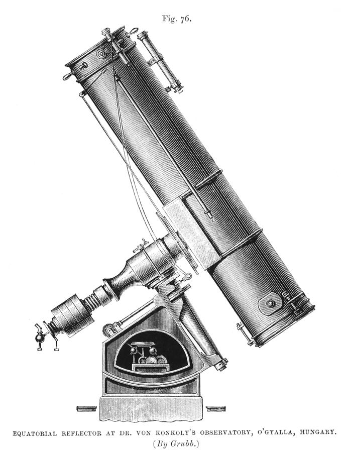 Equipment Photograph - Grubb Equatorial Telescope, Hungary by Science Photo Library