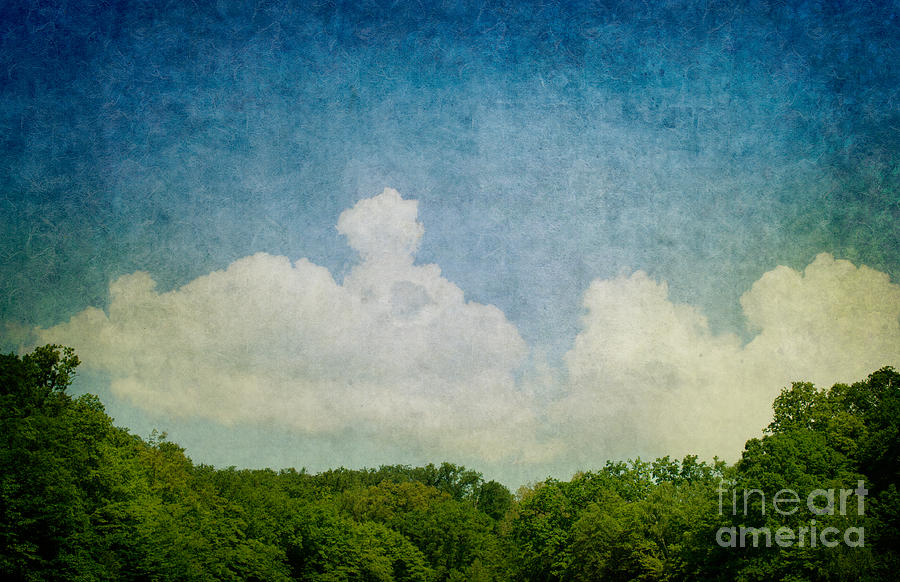 Grunge Background With Landscape Digital Art