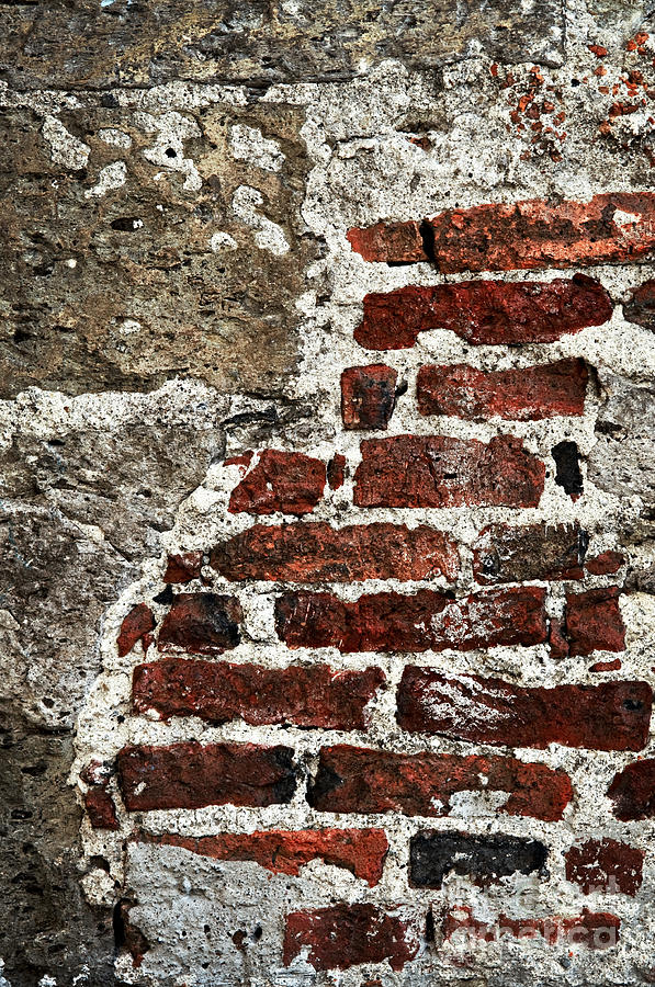 Grunge Brick Wall Photograph