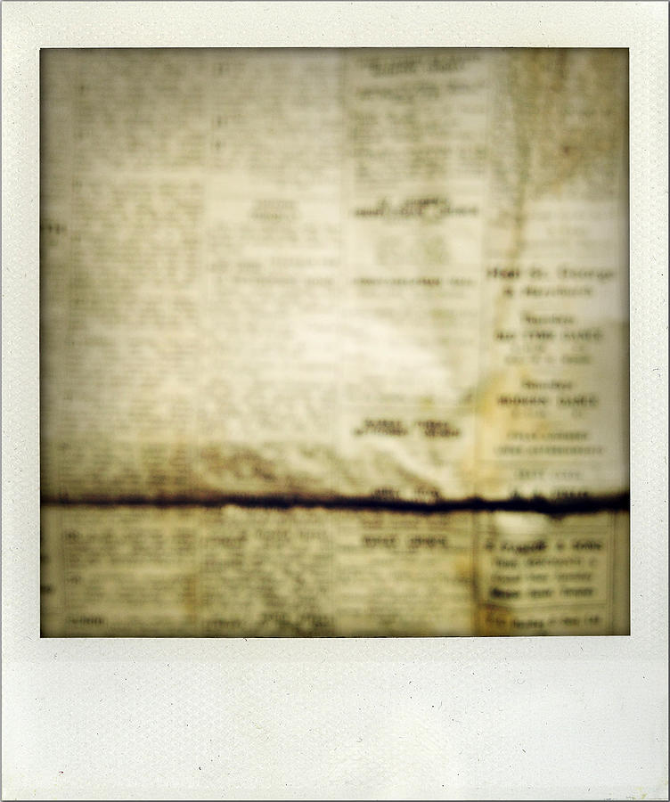 Grunge Newspaper Photograph  - Grunge Newspaper Fine Art Print