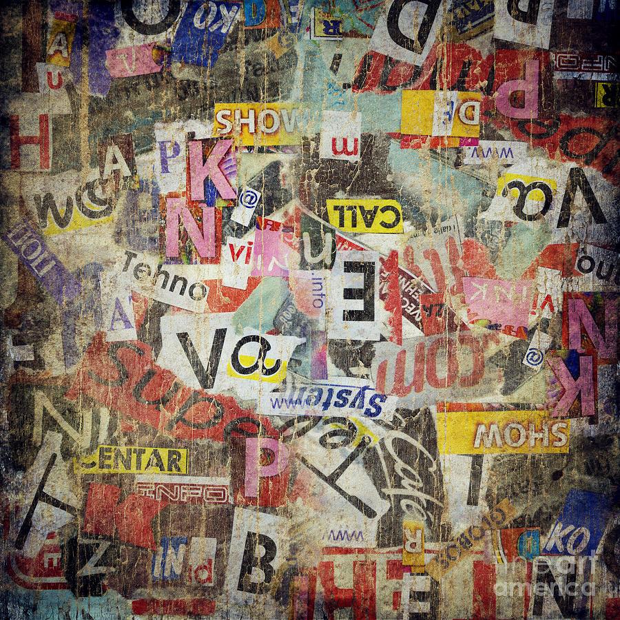 Grunge Digital Art - Grunge Textured Background by Jelena Jovanovic