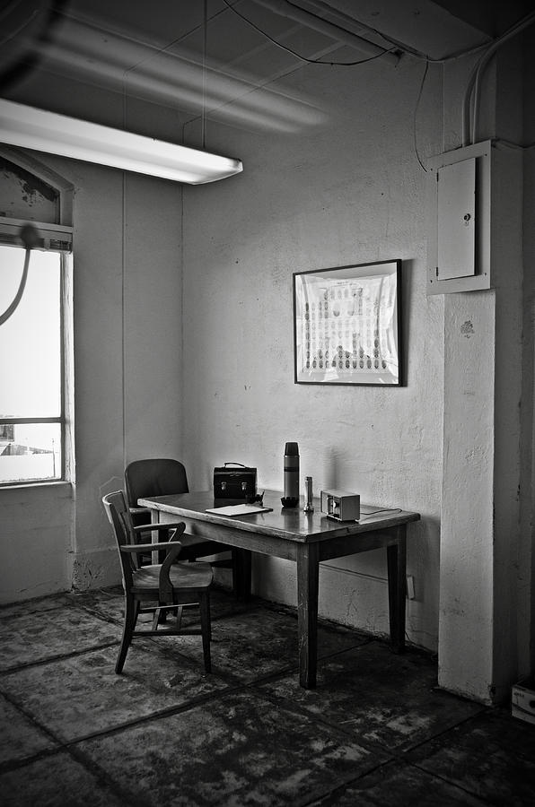 Communications Photograph - Guard Dining Area In Alcatraz Prison by RicardMN Photography