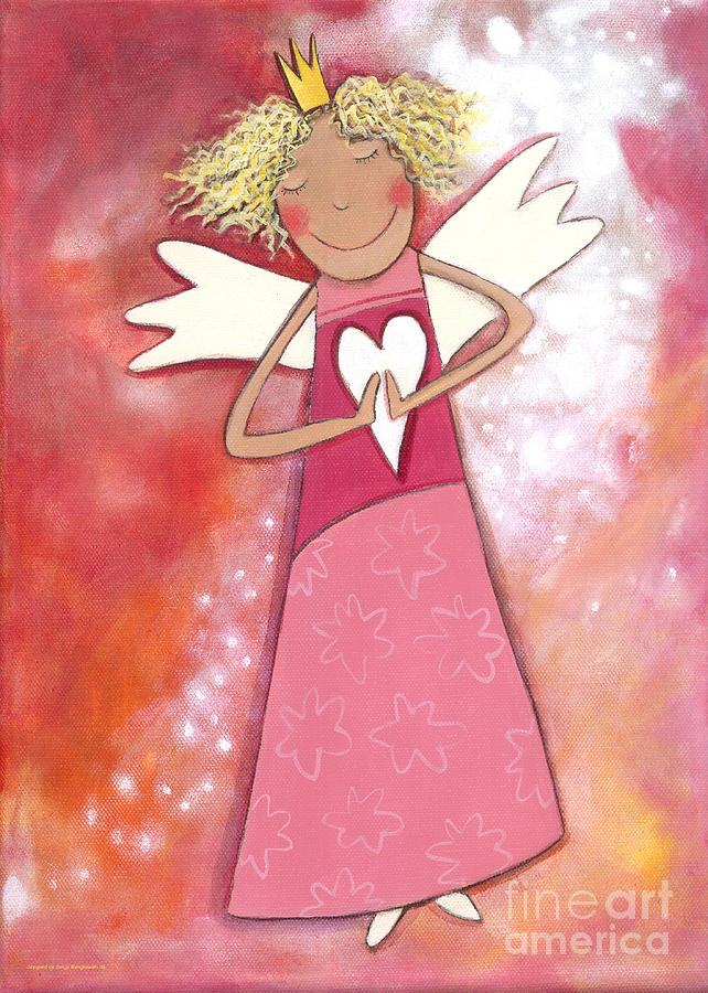 Guardian Angel For Girls Painting