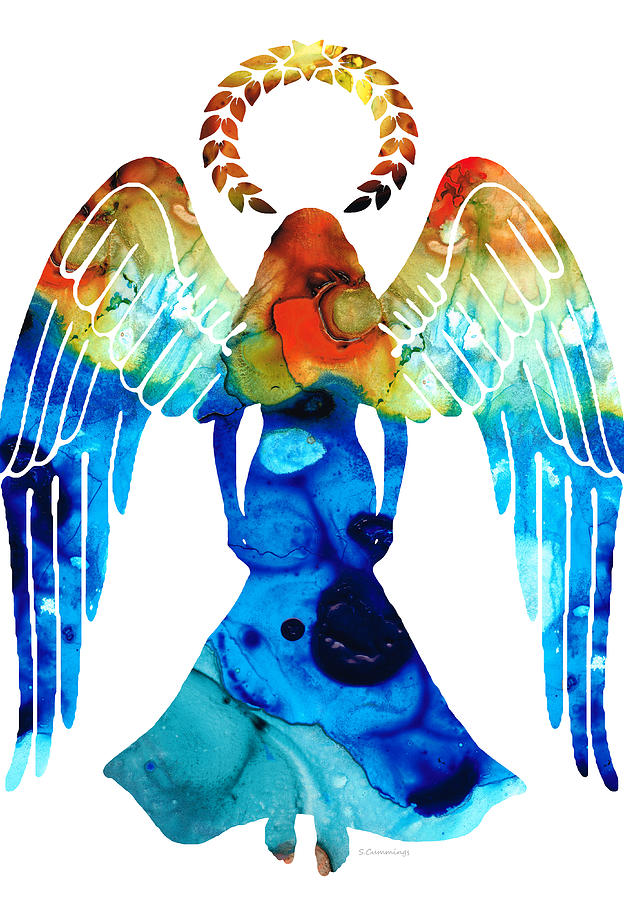 Guardian Angel - Spiritual Art Painting Painting  - Guardian Angel - Spiritual Art Painting Fine Art Print