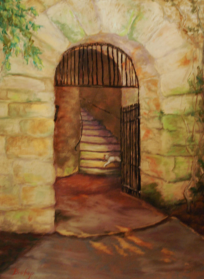 Guardian Of The Tower Gate Pastel  - Guardian Of The Tower Gate Fine Art Print