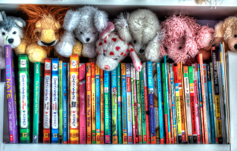 Children Photograph - Guardians Of The Library by Jeffrey Cohen