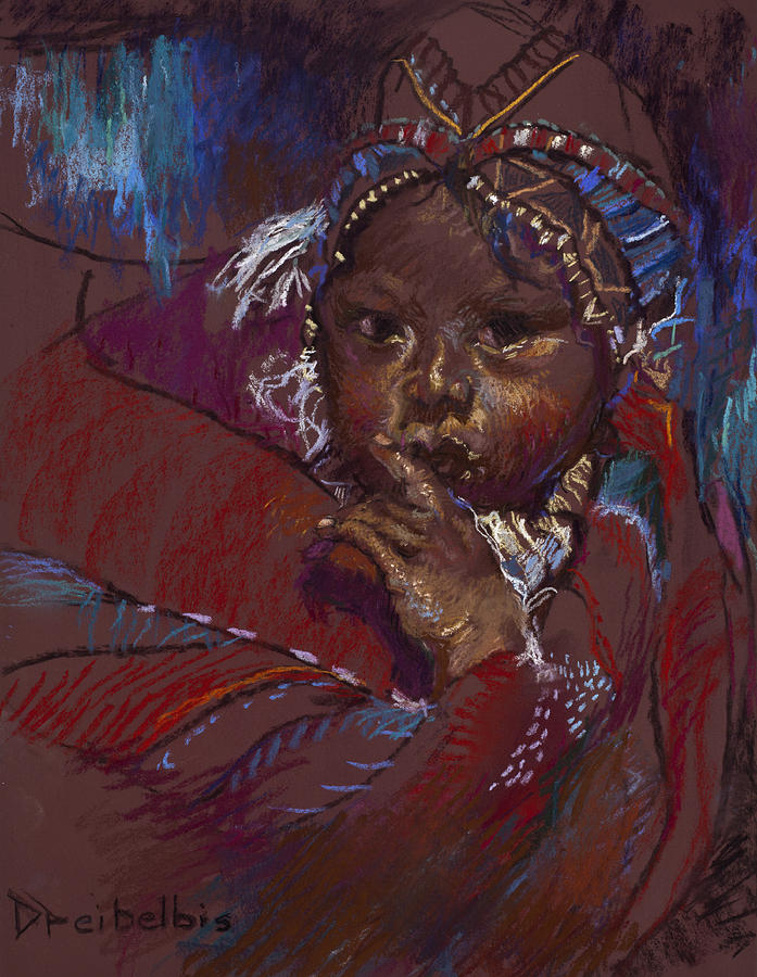 Guatemalan Child Painting  - Guatemalan Child Fine Art Print