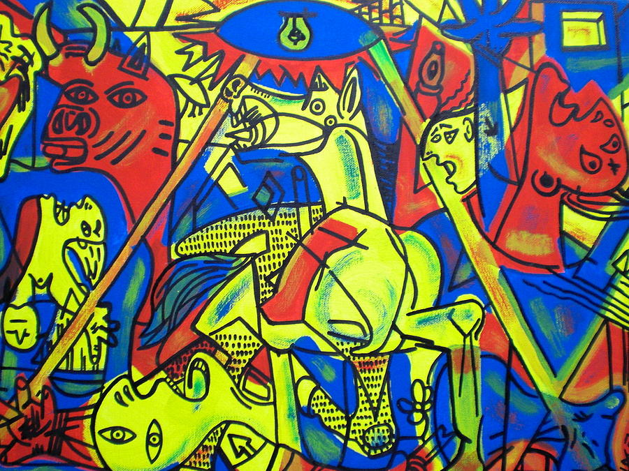guernica in color by leon keay