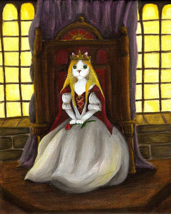 Guinefurre Cat Queen Painting  - Guinefurre Cat Queen Fine Art Print