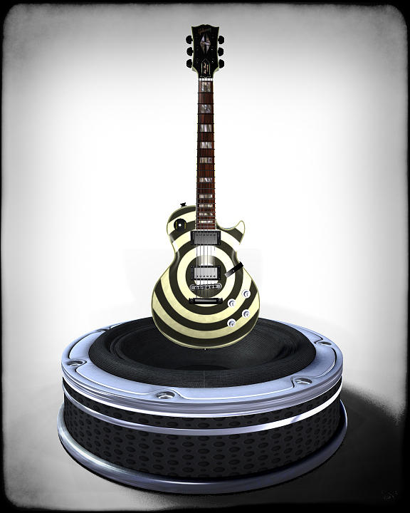 Guitar Desplay V2 Digital Art  - Guitar Desplay V2 Fine Art Print