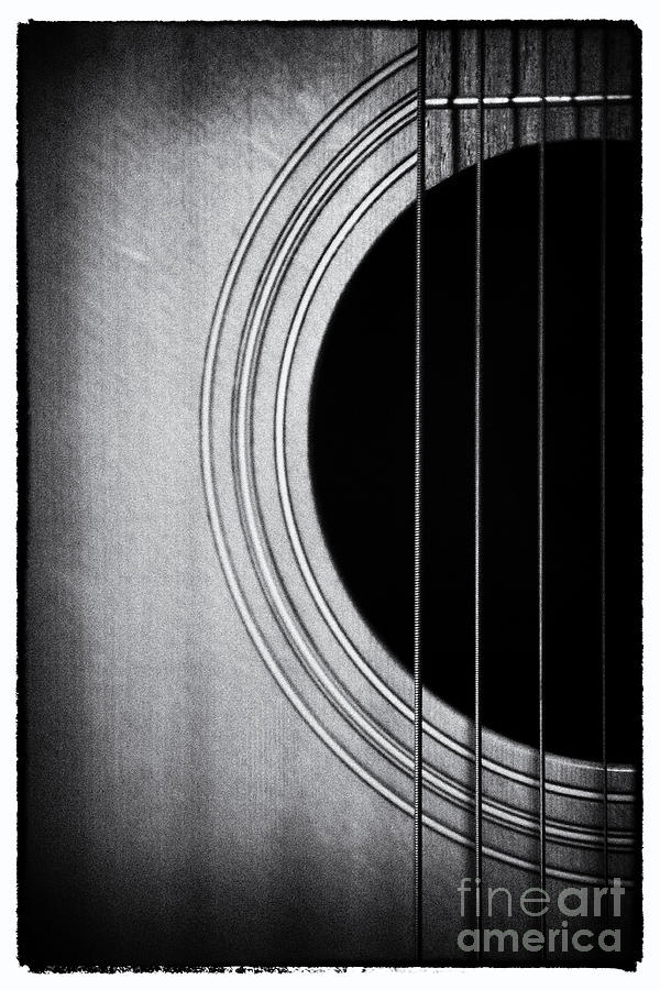 Guitar Film Noir Photograph