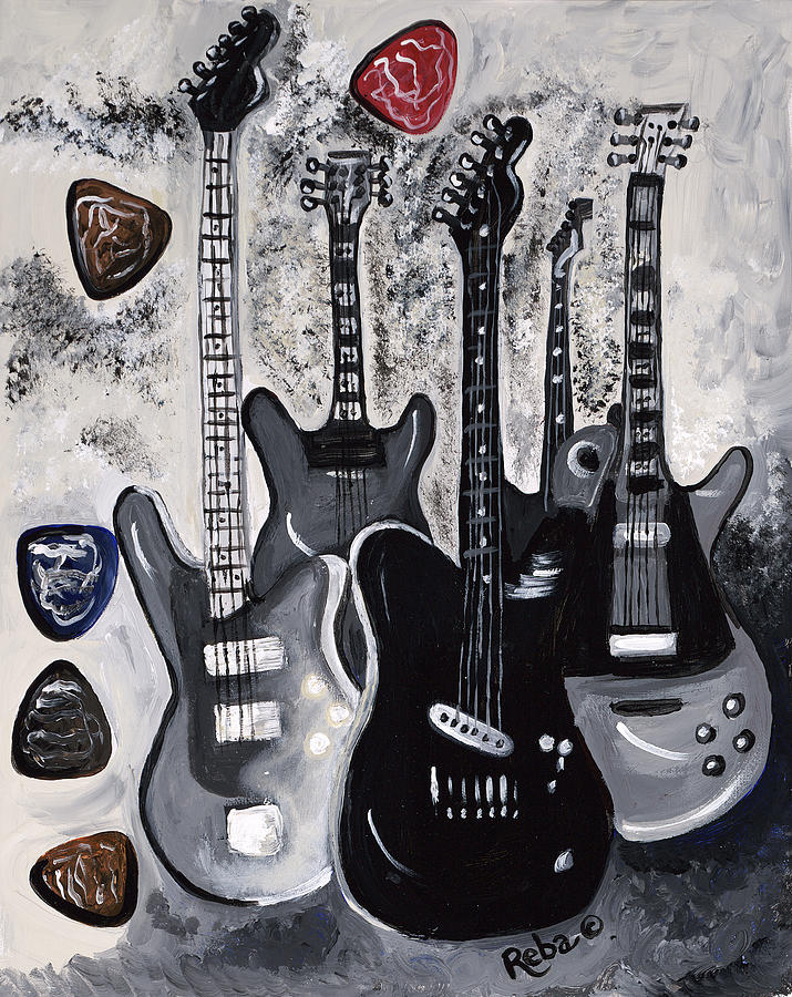 Guitar Heaven Painting