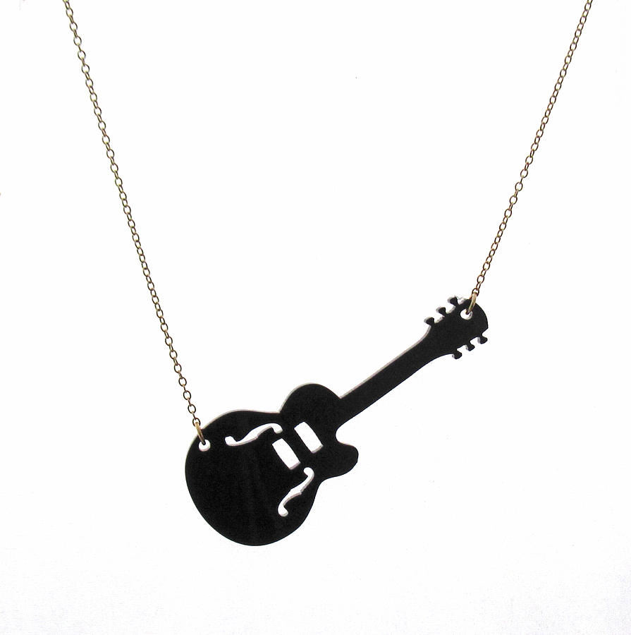 Jewelry Jewelry - Guitar Pendant Necklace by Rony Bank
