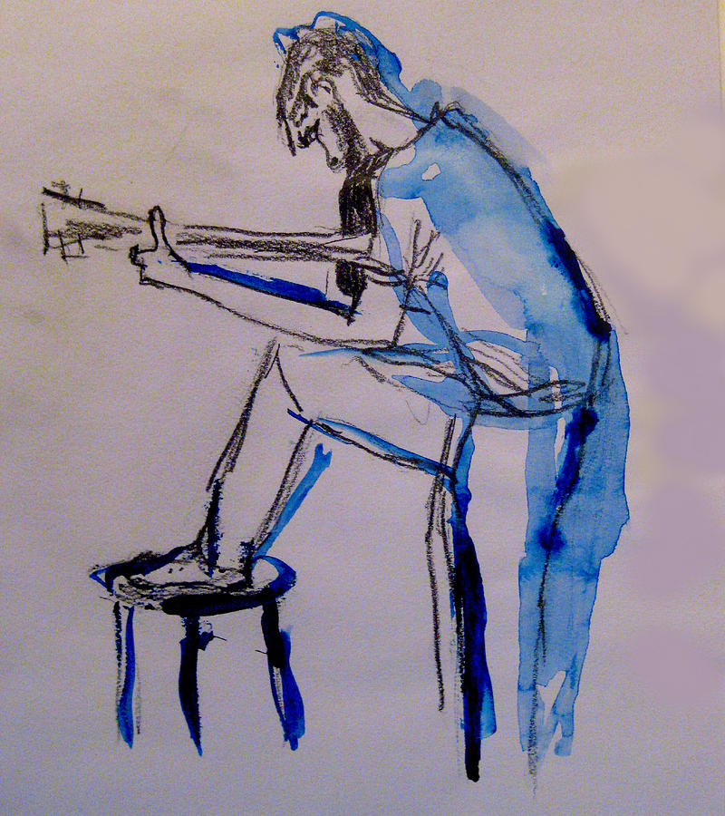 Guitar Player Painting