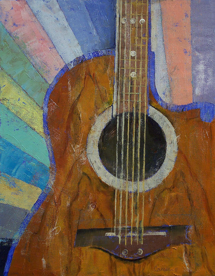 Guitar Sunshine Painting  - Guitar Sunshine Fine Art Print