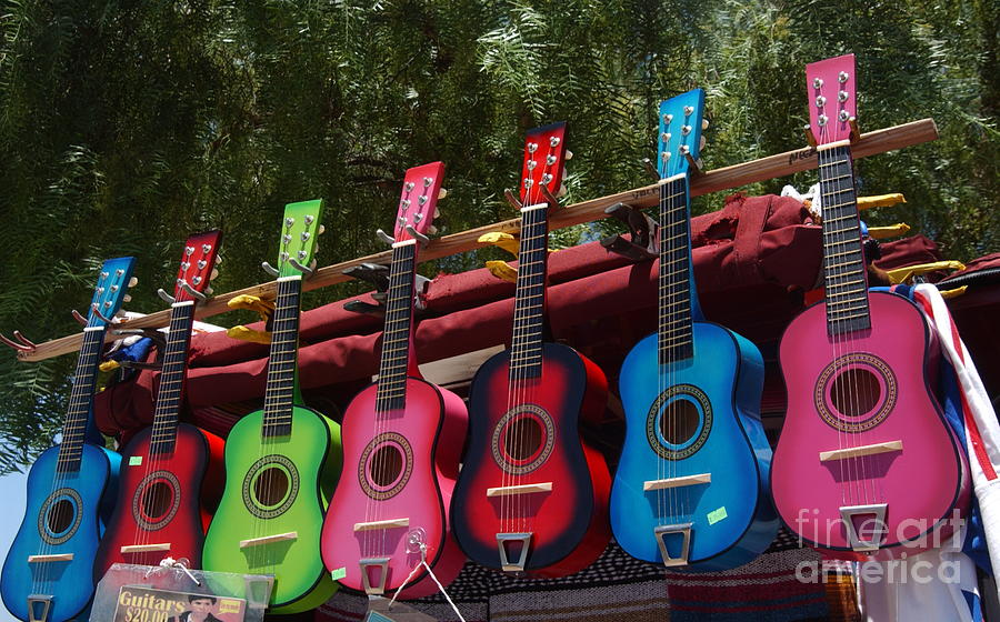 Guitars In Old Town San Diego Photograph  - Guitars In Old Town San Diego Fine Art Print