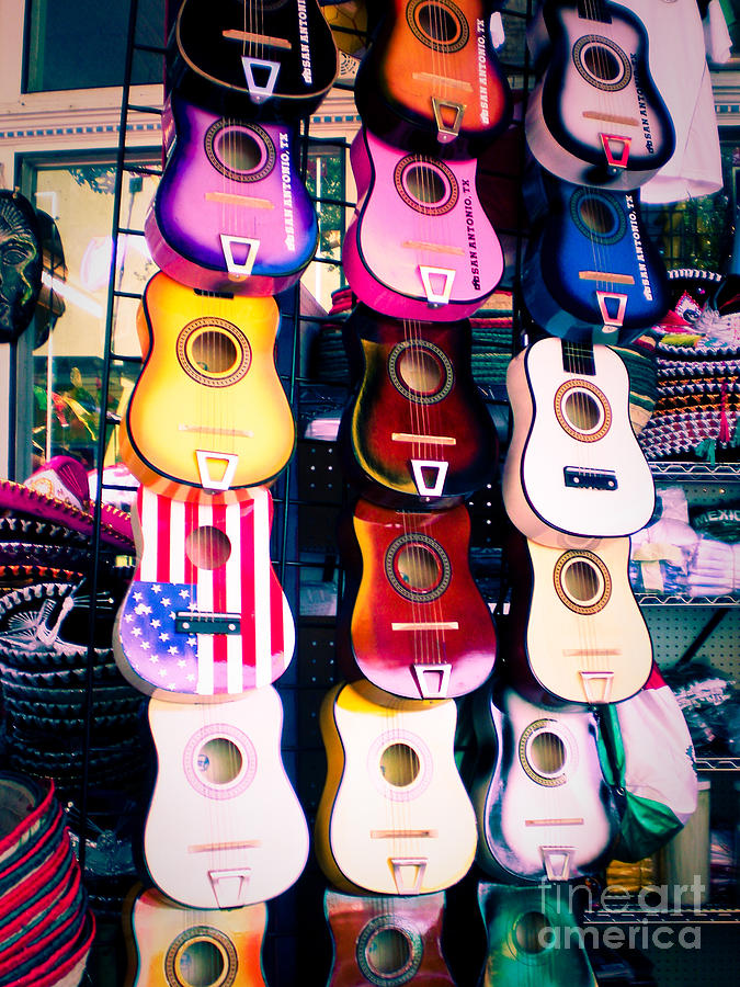 Guitars In San Antonio Market Photograph