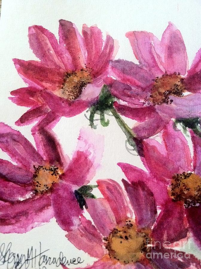 Gull Lakes Flowers Painting