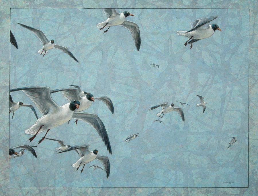 Gulls Painting
