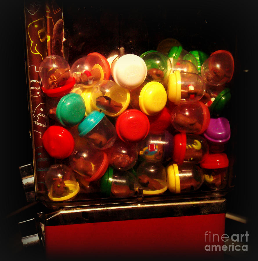 Gumball Memories - Childhood Fun Photograph  - Gumball Memories - Childhood Fun Fine Art Print