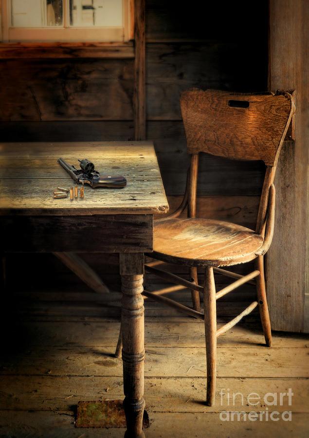 Gun On Table Photograph by Jill Battaglia
