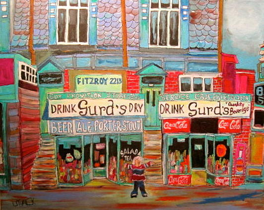 Guy Street Montreal Memories Painting