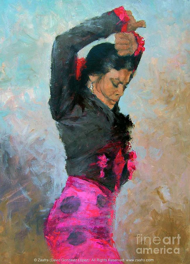Gypsy Woman Painting Gypsy Woman Dancing Painting