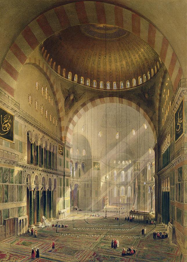 Haghia Sophia, Plate 24 Interior Drawing