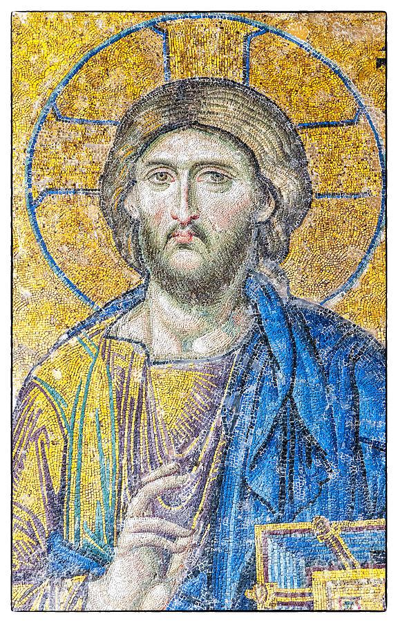 Hagia Sofia Jesus Mosaic Photograph