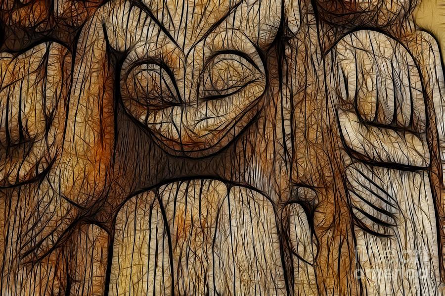 Haida Photograph - Haida Totem by Bob Christopher